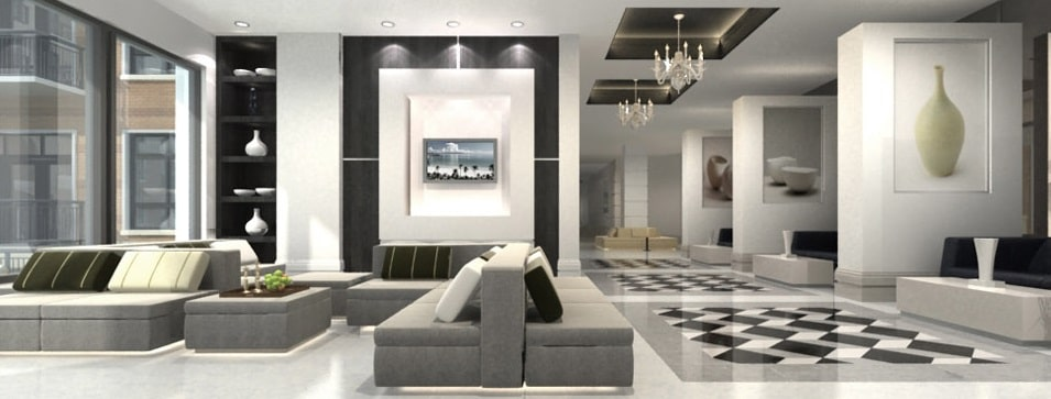 Waterwall Place Apartments Lobby