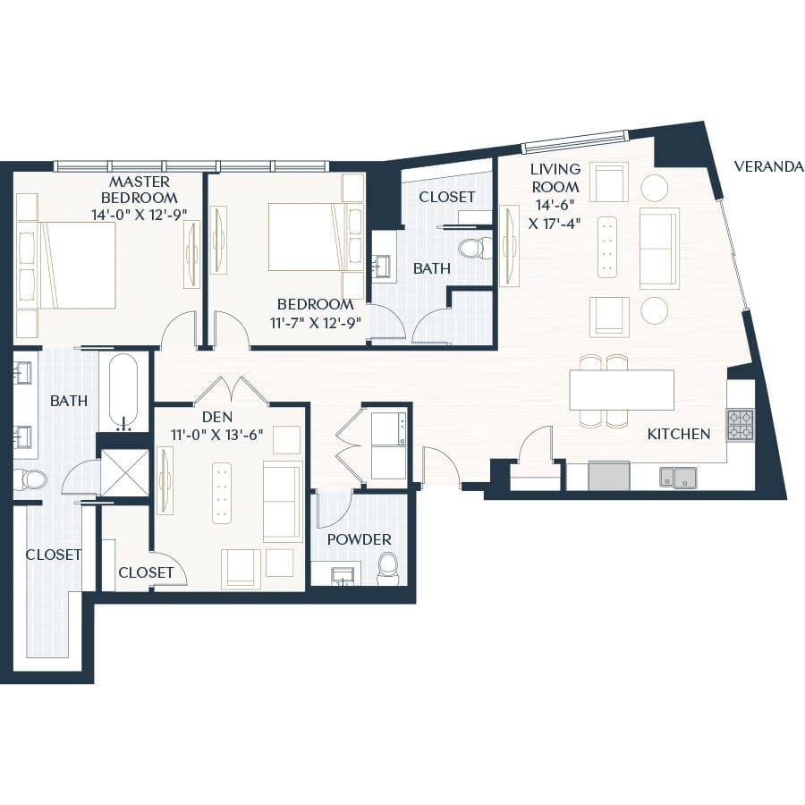 2929 Weslayan B6 Floor Plan