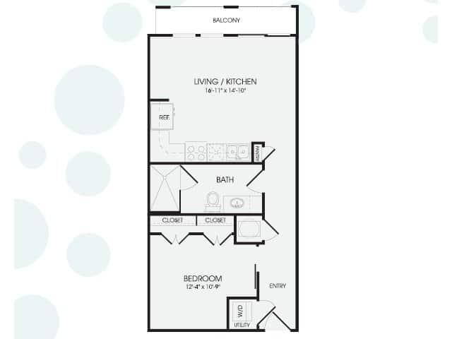 The broadstone post oak one bedroom floor plans for The ansley floor plan