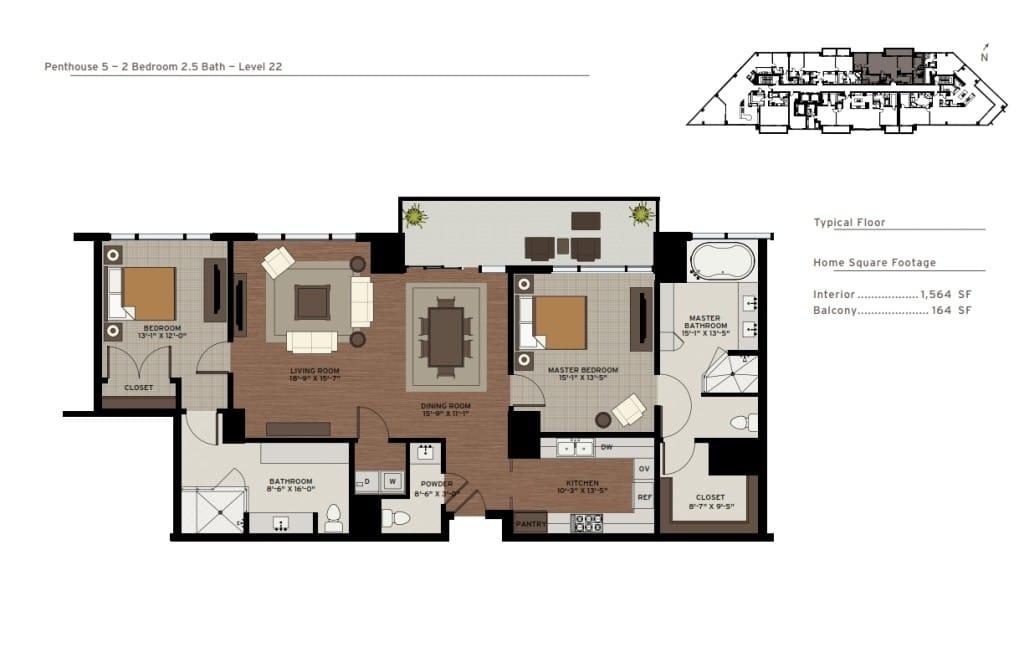 Penthouse 5 Floor Plan