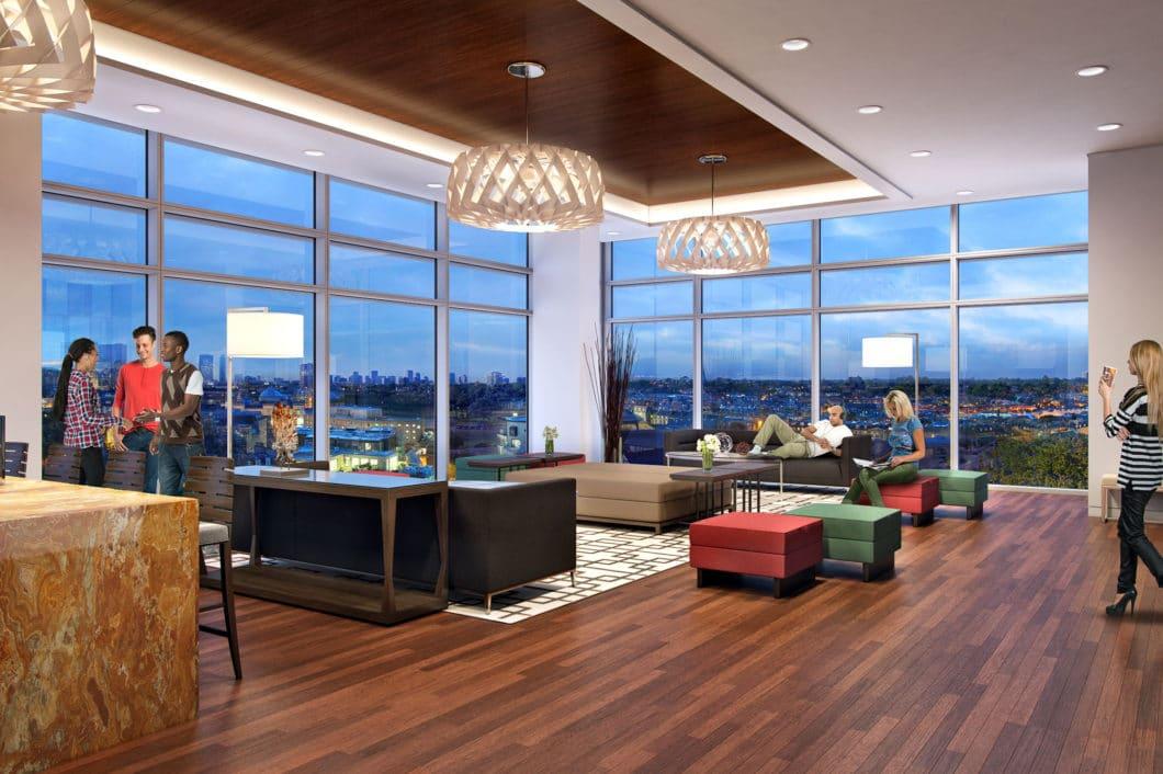 One Hermann Place Club Room Rendering