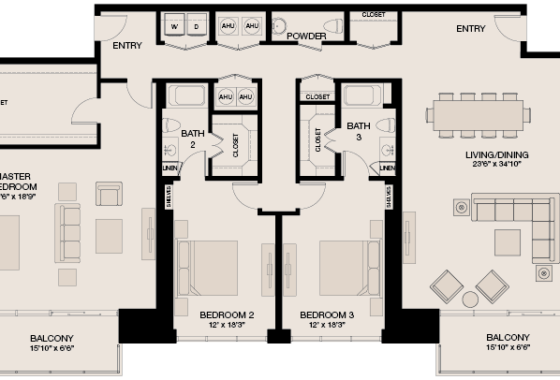 Market Square Tower Penthouse South Floor Plan