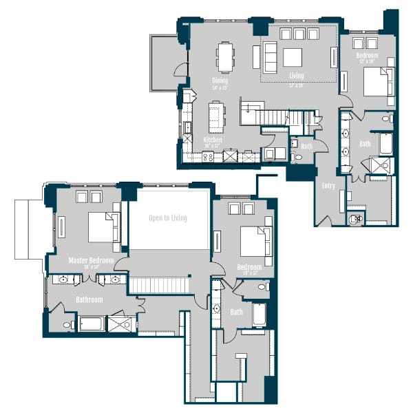 The Carter Penthouse 5 Floor Plan