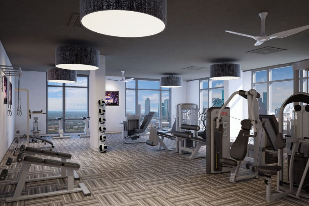 The Southmore Tower Fitness Room