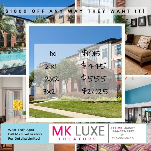 West 18th Apartments $1000 Off